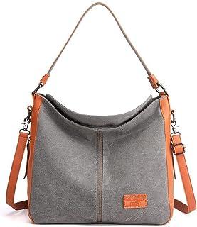VOLGANIK ROCK Canvas Tasche Damen Schultertasche Damen Groß Handtasche Multifunktionale Umhängetasche