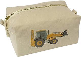 'Digger Truck' Canvas Wash Bag / Makeup Case (CS00019651)