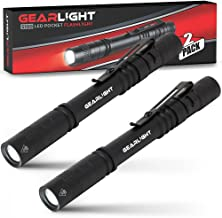 GearLight LED Pocket Pen Light Flashlight S100 [2 PACK] – Small, Mini, Stylus..