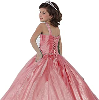 7dd508ceeb6 Jucai Little Big Flower Girls Tulle Lace Full Length Wedding Party Pageant  Dress