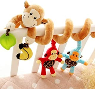 Freeas Baby Spiral Activity Hanging Toys Stroller Toys Cart Seat Pram Toy with Ringing Bell (Monkey)