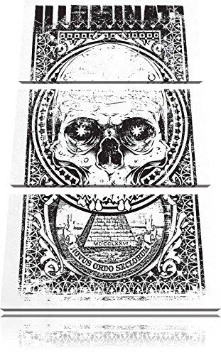 Illuminati light Bild 3-Teiler Leinwandbild 120x80 Bild auf Leinwand, XXL riesige Bilder fertig gerahmt mit Keilrahmen, Kunstdruck auf Wandbild mit Rahmen, gänstiger als Gemälde oder Ölbild, kein Poster oder Plakat