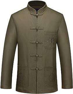 Tang Suit Kung Fu Jacket - Chinese Traditional Martial Arts Uniforms Tai Chi Clothing Dragon Jacket for Men
