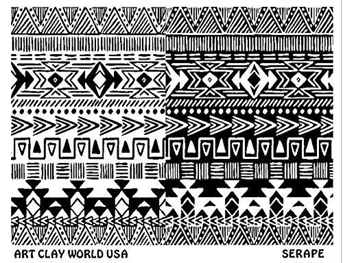 Art Clay World USA Low Relief Texture Serape - 1 Pc.