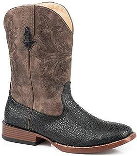 Mens Chomp Square Toe Black Boots