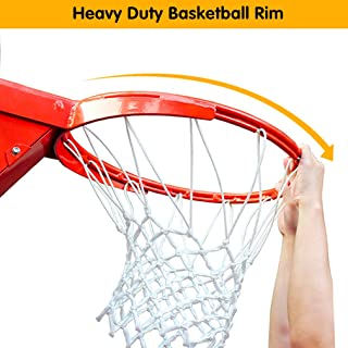 ProSlam Professional 180º Heavy Duty Breakaway Basketball Rim,18 inch Single Spring Flex Rim Goal Replacement fit Indoor and Outdoor Backboard (1-Spring)