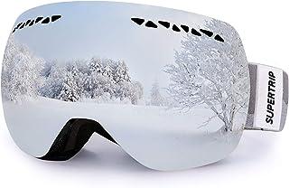 comprar comparacion Supertrip TM UV400Gafas de esquí unisex profesionales, antivaho, con doble lente multicolor para nieve, snowb...