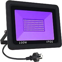 CREATESTAR UV Black Lights, Spotlights 100W High Power UV LED Floodlight Waterproof IP66 Ultraviolet Light Bulb with AU Pl...