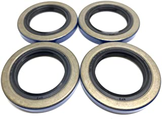 (Pack of 4) WPS (TM) Trailer Axle Hub Wheel Grease Seals 12192TB Double Lip 1.249'' X 1.983'' for 2000-2200# Axles