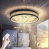54W Dimmbar Schlafzimmer Deckenleuchte, Aushöhlen Design Wohnung Deckenlampe, Schwarz Gold...