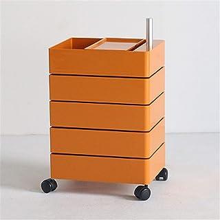 ALUNVA 360 Rotation Cabinet De Stockage,Classeur,Armoire Latérale De Rangement,Bureau Multi-Couche Cabinet De Stockage,Sid...