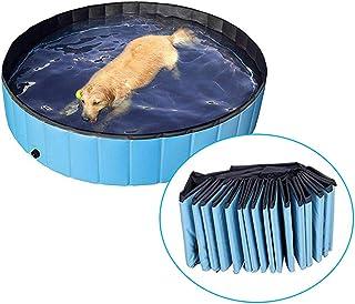 DAN SHANG Piscina Perros y Gatos Banera Plegable Banera de Mascotas Bano Portatil para Animales Adecuado para Interior Exterior 80 x 20cm
