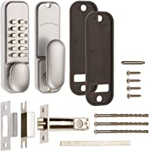 Mechanical Digital Door Lock with Holdback - Satin