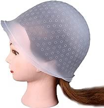 BEAUTYVAN Salon Reusable Hair, Professional Salon Reusable Hair Colouring Highlighting Dye Cap Hat Hook Frosting Tipping (Clear)