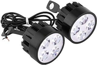Semoic 4/″ Motorcycle Bike Chrome Bullet Headlight Spot Fog Lamp Bulb For Chopper