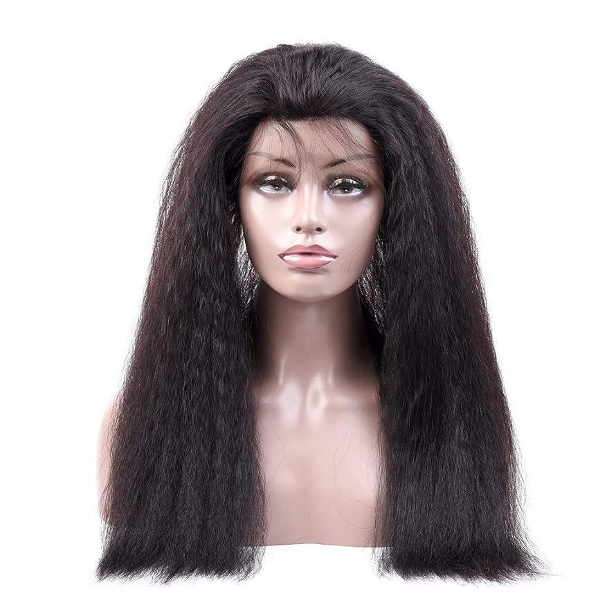 ではごきげんよう予定ポジションBOBIDYEE 変態ストレート人間の髪の毛のかつら360レース前頭かつら#1Bナチュラルカラー女性複合かつらレースかつらロールプレイングかつら (色 : 黒, サイズ : 10 inch)
