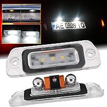 MOLEAQI Luz LED para automóvil 2 Piezas Luz de matrícula LED Blanca de xenón Sin Error para B-ENZ AMG ML GL R Clase W164 W251