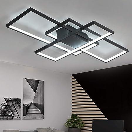 Plafonnier LED moderne à intensité variable avec télécommande lampe de chambre à coucher cuisine plafond rectangulaire en acrylique couloir salle à manger lampe de décor