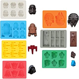Set of 7 Star Wars, Silicone Ice Tray Molds in Star Wars, Ideal for Chocolate, Ice, Jelly, Sweets and Desserts. Molds: Sto...