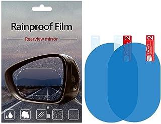 Car Rearview Mirror/Side Window Rainproof Film, Anti-Water/ Anti-Fog/ Anti-Glare/ Anti-Scratch Mirror Protective Film for Car/Motorbike/Bus, Waterproof Rearview Mirror Clear Film, Auto Accessories (2PCS) (100mm*150mm)
