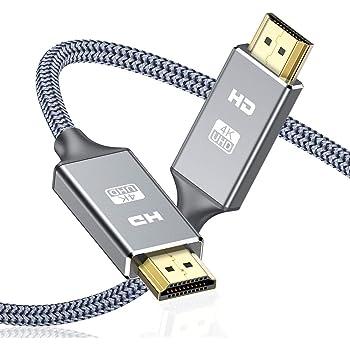 Cavo HDMI 4k Ultra HD [2m],Cavi HDMI 2.0 alta velocità Supporta Ethernet 3D,4K e ritorno audio-2160p Full HD 1080p 3D,Blu-Ray,Xbox 360 TV, Playstation PS3,PS4, HDTV,Arco,HDCP 2.2,HDR