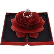 Naimo Creative Rose Engagement... Naimo Creative Rose Engagement Ring Box Coin Jewelry Gift Box