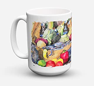 Caroline's Treasures 8538CM15 Barq's and Crabs Dishwasher Safe Microwavable Ceramic Coffee Mug 15 ounce, 15 ounce, multicolor