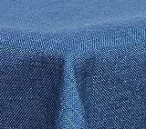 Maltex24 Textil Tischdecke - Leinen Optik - wasserabweisend Eckig (Blau, ca. 135x180 cm)