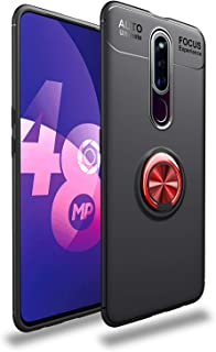 Case for OPPO F11 Pro Soft Silicone Cover,360 Degree Rotate Metal Ring Kickstand,Anti-Scratch TPU Gel Bumper Shockproof [f...