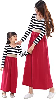 Cotton Material Mommy and Me Chevron Maxi Dress