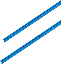 """POWERTEC 71119 Double-Cut Profile Universal T-Track with Predrilled Mounting Holes(2-Pack), 36"""""""