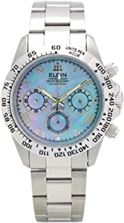 [エルジン]ELGIN 腕時計 200M防水 ブルーシェル クロノグラフ 日本製ムーブ FK1406S-BL メンズ