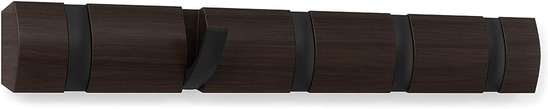 Umbra Flip 5 Wall Mounted Floating Rack – Modern, Sleek, Space-Saving Hanger with Retractable Hooks to Hang Coats, Scarves...