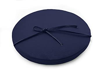 Sigmat Indoor/Outdoor Seat Cushions Waterproof Round Bar Stool Cushion Solid Chair Pad Navy 18 Inch