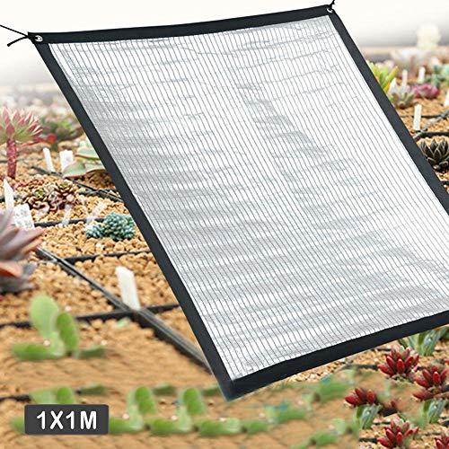 Gärtnern abkühlender Sonnenschutz Aluminiumfolie Isolierung abkühlender Sonnenschutz Schatten Netz verwendbar für Gewächshausblumen, Pflanzen, Terrassen Rasen