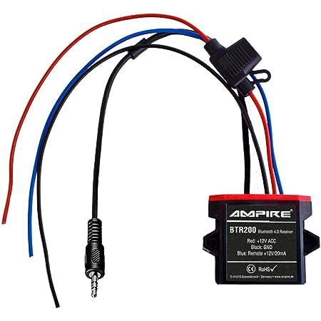 Ampire Bluetooth Receiver Mit Auto Remote Wasserdicht 3 5mm Klinke Btr200 Navigation