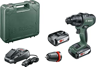 Bosch Home and Garden 06039B5171 Cordless Drill AdvancedImpact 18 (2 Batteries, 18 V System, in Carrying Case), Design 201...