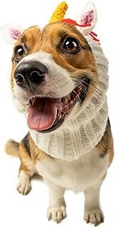 Zoo Snoods Unicorn Dog Costume - Neck and Ear Warmer Headband for Pets