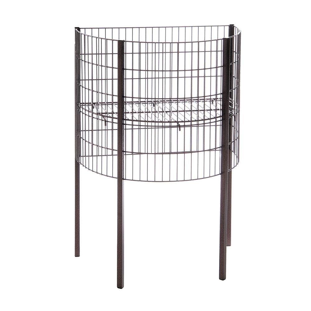 Half Arlington Mall Round Dump Bin Black Wire x 15