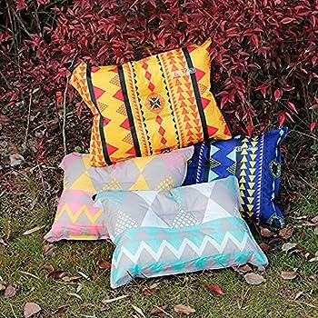Chnrong Oreiller de pique-nique gonflable, léger, confortable et portable, compact pour l'extérieur, étanche, pour le camping, la randonnée, l'avion, la voiture, la plage, le bureau