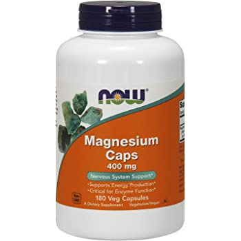 NOW Supplements, Magnesium 400 mg, Enzyme Function*, Nervous System Support*, 180 Capsules