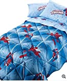 Edredón de SPIDERMAN POWER caleffi piazza medio azul cm.220 x 265-peso-TESSUTO...