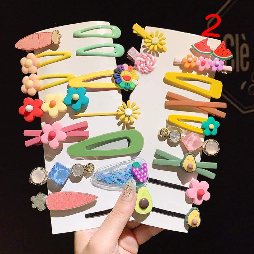 Max 85% OFF DAWEIF Kawaii Cartoon Fruit Flower Gi Children Popular brand in the world Princess Hairpins