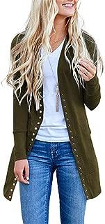 Cardigan Sweaters for Women Knitwears Long Sleeve Button Down Cardigans