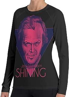 Women's Shining Jack Nicholson T-Shirts Casual Girls Long Sleeve Tee Shirt