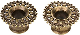Bronze Copper Ear Plug Gauges Flesh Tunnel Hollow Flower Ear Stretchers Body Piercings Jewelry