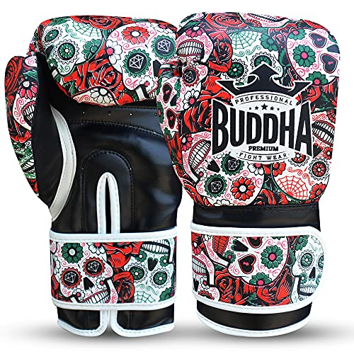 Buddha Fight Wear Guantes de Boxeo Mexican Premium Rojos