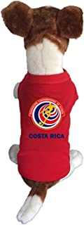My Pet Boutique Costa Rica-Dog Soccer Jersey-Pet T-shirt- -breathable Fabric-makes Dog Comfortable-cozy up Costume to Celebrate The Russia World Cup 2018-enjoy Your Football Team Passion.
