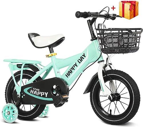 elige tu favorito BAICHEN Bicicletas para Niños,Bicicletas de de de los Niños 12 14 16 18 Pulgada con estabilizadores,Adecuado para Niños de 2 a 9 años,verde,12inches  n ° 1 en línea