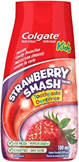 Colgate Liquid Gel 2-in-1 Kids Toothpaste and Mouthwash, Strawberry, 100 Milliliters (Colours Vary)